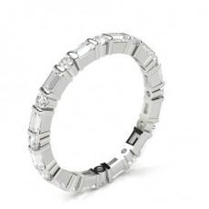 Bague 5 pierres diamant rond serti barette et 1.10ct