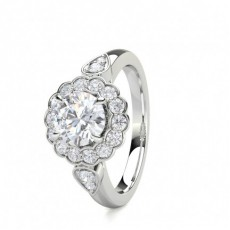 4 Prong Setting Side Stone Halo Engagement Ring - CLRN1547_01