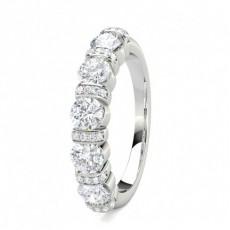 Round Platinum 5 Stone Diamond Rings