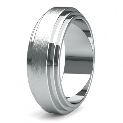 8.00mm Slight Comfort Fit Mens Plain Wedding Band