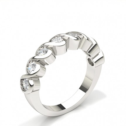 Bezel Setting Half Eternity Diamond Ring