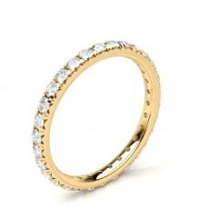 Or Jaune Bagues d'éternité En Diamant