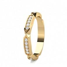 Pave Setting Half Eternity Diamond Ring - HG0659_A37