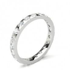 Alliance tour complet diamant rond serti barette en 2.00mm