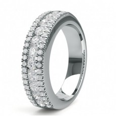 Alliance demi-tour diamant rond serti rail en 0.85ct - CLRN1567_01