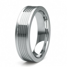 White Gold Women's Contemporary Wedding Bands
