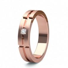 Men's Rose Gold Wedding Rings & Bands