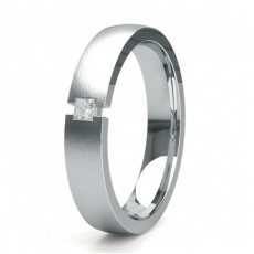 Princess Men's Diamond Wedding Bands