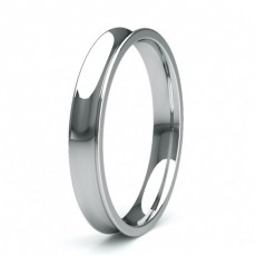 3.00mm Slight Comfort Profile Plain Wedding Band