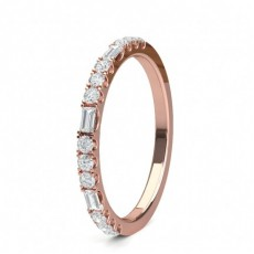 Rose Gold Diamond Half Eternity Rings
