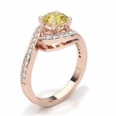 Brilliant Rotgold Halo-Ringe