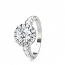 Multi Diamant Verlobungsring in einer Krappenfassung - CLRN1600_01