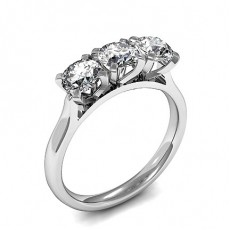 4 Prong Setting Plain Three Stone Ring - CLRN1603_01