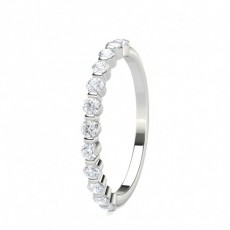 Halb Eternity Diamant Ring in einer Balkenfassung - CLRN1610_02
