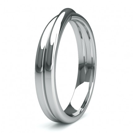 3.60mm Slight Comfort Profile Plain Wedding Band