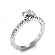 Diamant Verlobungsring in einer Krappenfassung mit Schulter Diamanten - CLRN1613_01