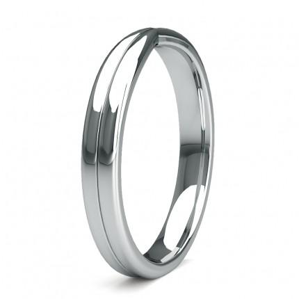 3.00mm Slight Comfort Fit Plain Shaped Wedding Band