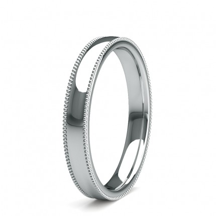 3.00mm Slight Comfort Fit Plain Wedding Band