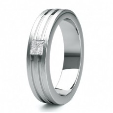 Men's Platinum Wedding Rings & Bands