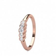 Bague 5 pierres diamant rond serti demi-clos en 0.20ct - CLRN1630_01