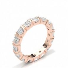 Princess Full Diamond Eternity Rings