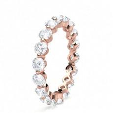 Round Full Diamond Eternity Rings