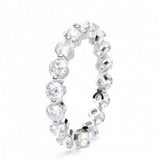 Round Platinum Full Diamond Eternity Rings