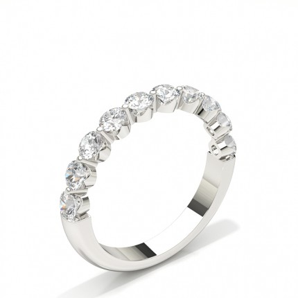 Halb Eternity Diamant Ring in einer Krappenfassung