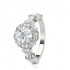 8 Prong Setting Side Stone Halo Engagement Ring - CLRN1635_01