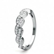 Alliance demi-tour diamant rond serti pavé en 0.20ct - CLRN1642_01