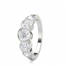 Bague 5 pierres diamant rond serti clos 1.50ct - CLRN1644_01