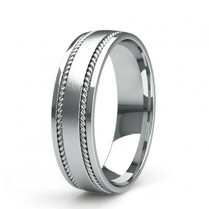 6.00mm Slight Comfort Fit Mens Plain Wedding Band