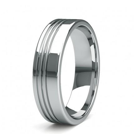 Halb Eternity Diamant Ring in einer Pavefassung