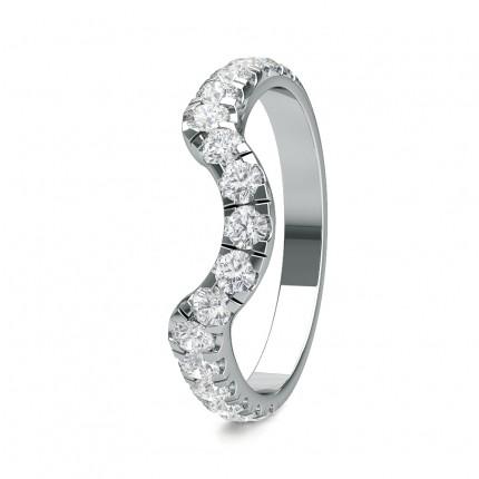 2.40mm Studded Slight Comfort Fit Diamond Shaped Band