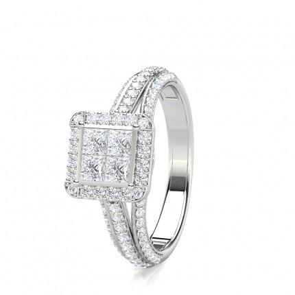 Eternity Diamant Ring in einer Kanalfassung