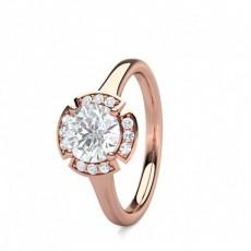4 Prong Setting Plain Halo Engagement Ring - CLRN1668_01