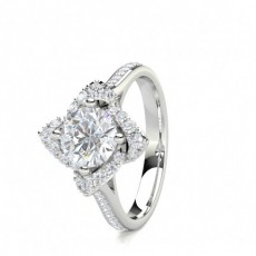 4 Prong Setting Side Stone Halo Engagement Ring - CLRN1670_01
