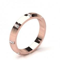 Bague en diamant solitaire diamant rond serti demi-clos