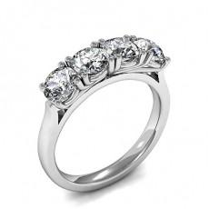 4 Prong Setting Round Diamond Half Eternity Ring - CLRN1741_01