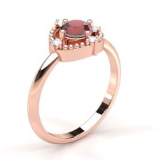 4 Prong Setting Ruby Halo Engagement Ring - CLRN1952_RB_01