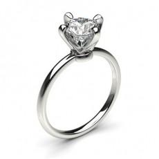 4 Prong Setting Round Diamond Plain Engagement Ring - CLRN2043_01