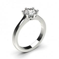 6 Prong Setting Plain Engagement Ring - CLRN2044_01