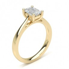 Bague diamant solitaire or jaune