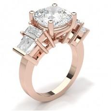 Rotgold 5 Diamanten