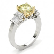 4 Prong Yellow Diamond Engagement Ring