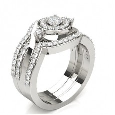 Silver Halo Engagement Rings