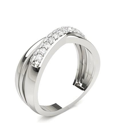 Standard Fit Eheringe mit Diamanten besetzt