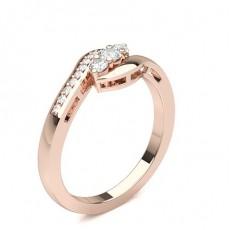 Or Rose Trilogie Bague Diamant