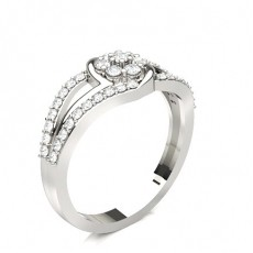Prong Setting Diamond Cluster Ring