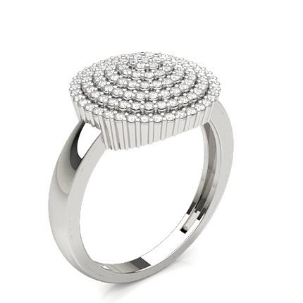 Diamant Cluster Ring in einer Krappenfassung